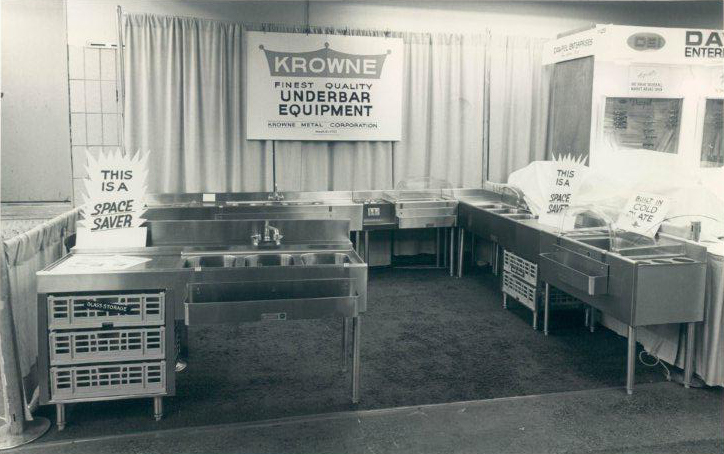 Circa 1975 - Krowne's booth at a New York Restaurant Show