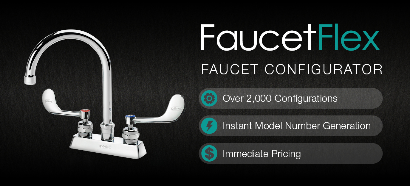 Configure your very own Faucet to your specifications with Krowne's FaucetFlex